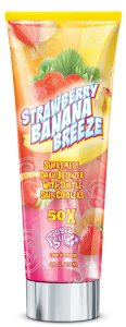 Крем для солярия с бронзаторами STRAWBERRY BANANA BREEZE  (50X)