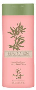 Крем для солярия с бронзаторами HEMP NATION DHA BRONZER